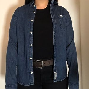 Abercrombie Youth Denim Button Cardigan SM